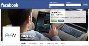 FXGM e Facebook operano sui mercati Forex